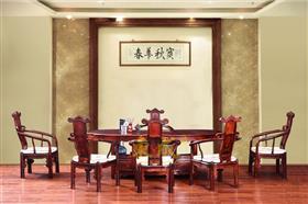 东成红木2.16腰形茶台