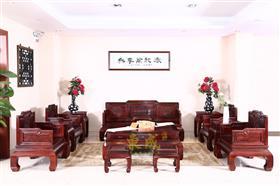 东成红木五福沙发
