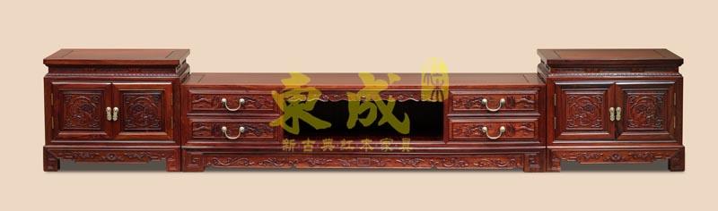 东成红木如意宝座三合一地柜