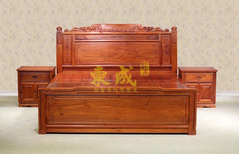 东成红木豪华大象大床.