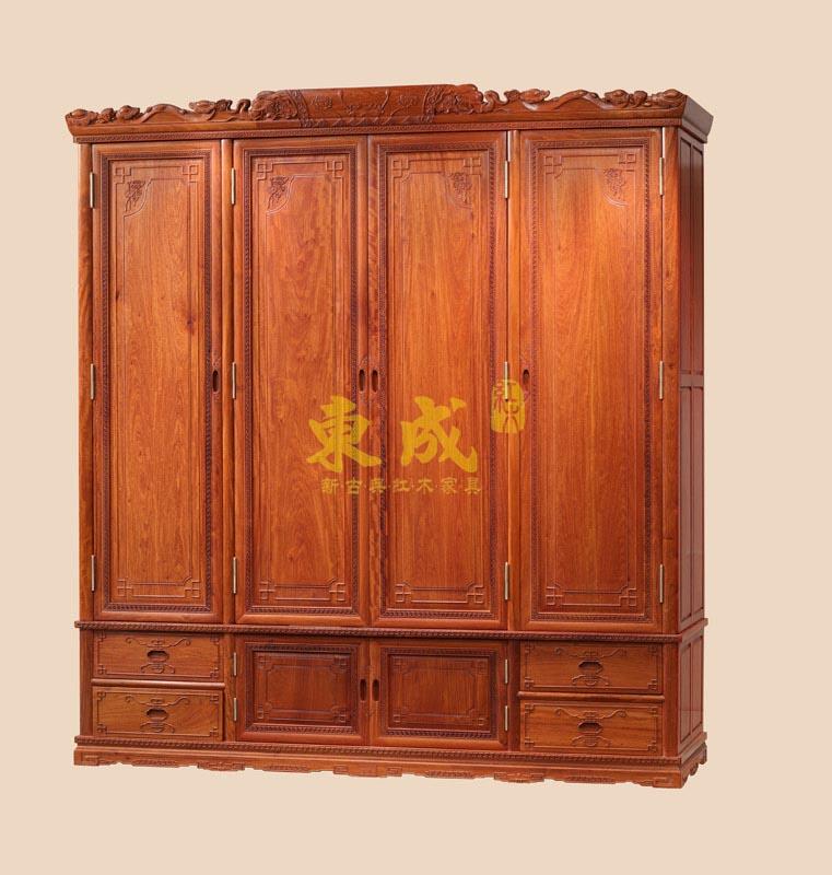 东成红木豪华大象衣柜